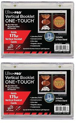 Lot of 2 Ultra Pro Vertical Booklet One Touch Card Holder UV Protected free ship