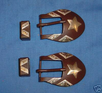 Cowboy Sweet Iron Buckle Silver Star Spurs Buckles Keeper