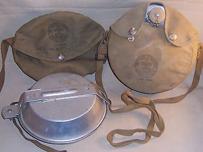 2 Vintage Official Boy Scouts of America Mess Kits  BSA