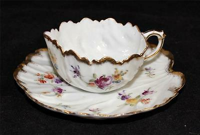 China Traditional Chinese Markings Swirl, Floral Gold, Cup & Saucer or Gravy