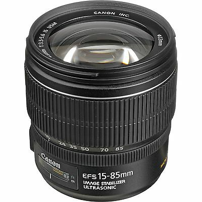 Canon EF-S 15-85mm f/3.5-5.6 IS USM Lens - Brand New USA