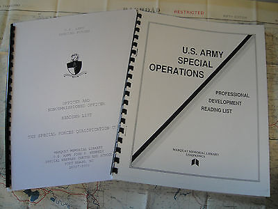 US Military Reading List. 1 Special Forces Q Course 1 Special Operations