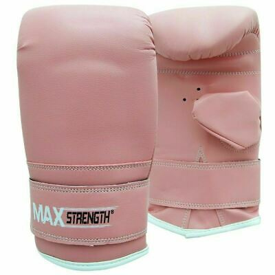 Pro Pink Bag Mitts Boxing Gloves MMA UFC Muay Thai Training Grappling Punch