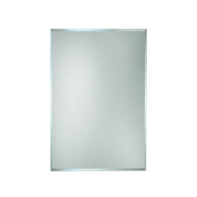 BATHROOM MIRROR 450mm x 600mm HUNG VERTICAL or HORIZONTAL BEVELLED EDGE (BEM450)