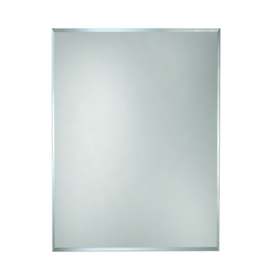 BATHROOM MIRROR 600mm x 750mm HUNG VERTICAL or HORIZONTAL BEVELLED EDGE (BEM600)