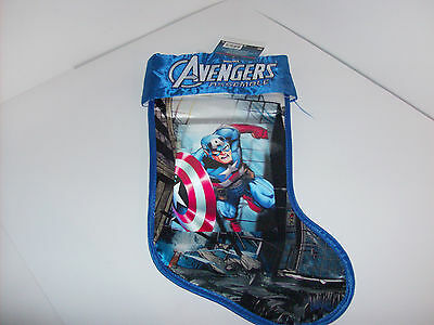 Marvel Avengers Assemble Captain American Holographic Holiday Stocking NWT