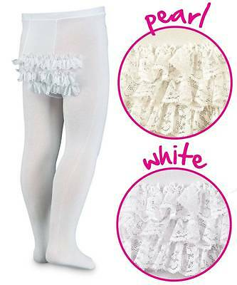 NEW Jefferies Microfiber Rhumba Baby Tights White or Pearl Ivory 0-6 6-18 18-24M