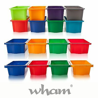 NEW Stackable Strong Storage Boxes for Toys, Craft, Tools,16L - Plastic Tubs