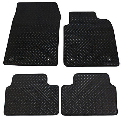 Vauxhall Vectra MK3 2003-2008 Fully Tailored 4 Piece Rubber Car Mat Set 4 Clips