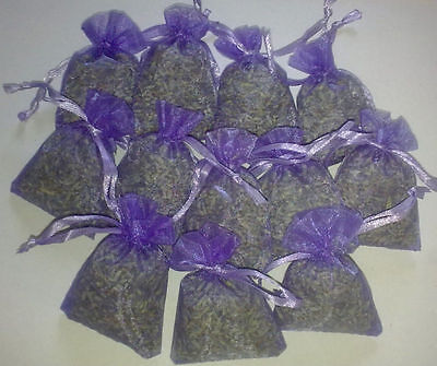 Dried Aromatic Provence Lavender Filled Organza Bags 7cm x 5cm