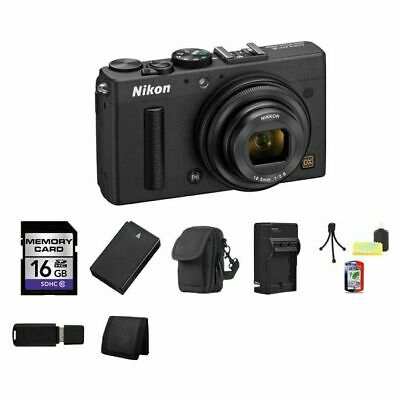 Nikon Coolpix A Digital Camera - Black 16GB Package