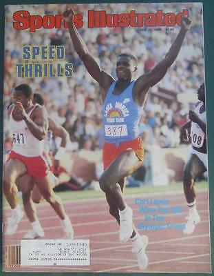 CARL LEWIS WINS THE 100 OLYMPIC TRIALS RUNNER SPORTS ILLUSTRATED MAGAZINE 1984