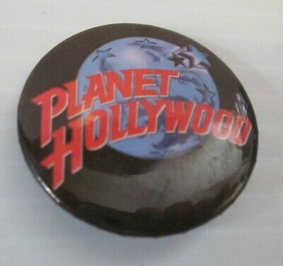 Planet Hollywood Restaurant Promo Pinback Buttons Set/2 Plus All Star Cafe Pin