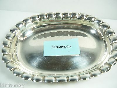 "Tiffany & Co  Sterling  6 3/4 "" Scalloped Bowl 4.6 Ozt"