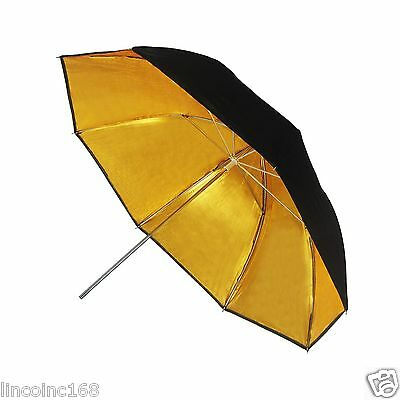 "《US SELLER》LINCO Studio Photography Photo Studio 32"" Gold Reflective Umbrella"