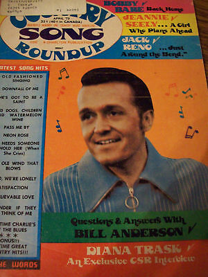 Bill Anderson Covers Country Song Roundup Magazine 1973