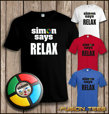 Funny 80s Mash-Up FRANKIE GOES TO HOLLYWOOD / SIMON SAYS RELAX T SHIRT~ To 4XL