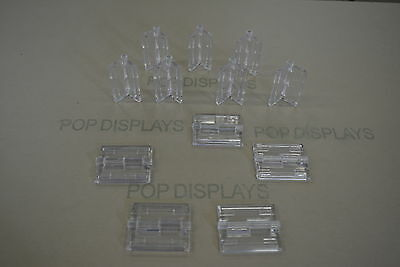 Acrylic Plastic Hinges Clear  Acryl-Hinge Set Of 12  -  Ch12