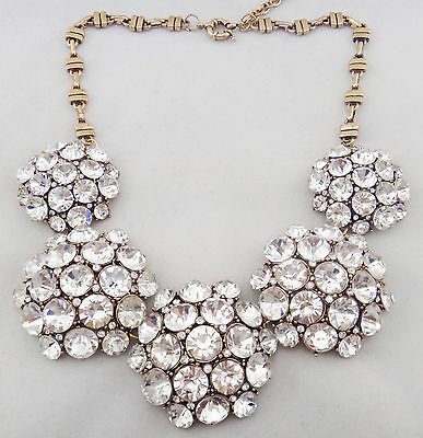 2014 New Design Top Selling Women Gorgeous Bib Statement Crystal Bling necklace