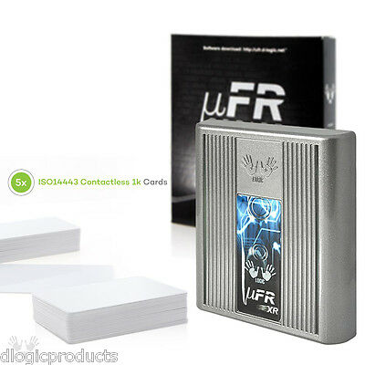 NFC Reader Writer uFR Base HD with RS-485, FREE SDK and 5 Contactless 1k cards