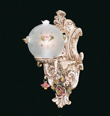 Capodimonte Made in Italy Wall Light Sconce with 1 Globe - 2 Finishs (New)