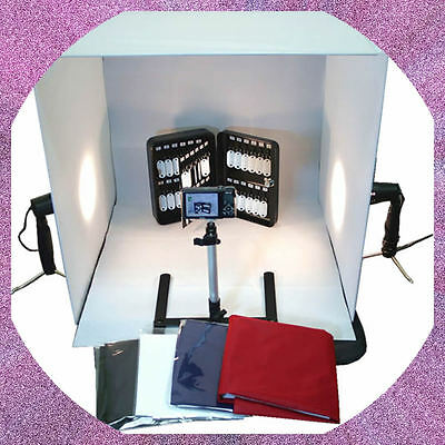 "BlueDot Studio Photo Studio Table Top Lighting Kit in a Box with 24"" Square Tent"