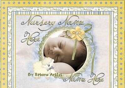 BABY LULLABY Reborn Auction Template UNLIMITED PICS Matching Birth Certificate