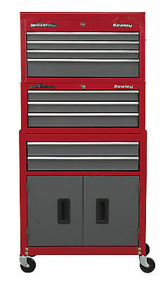 New Steel Pro Storage Rollcab Tool Cabinet Top Chest Box Ball Bearing 9 Drawers