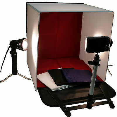 "Photo Studio 16"" Photography Light Tent In A Box Backdrop Kit Carrying Case Cube"