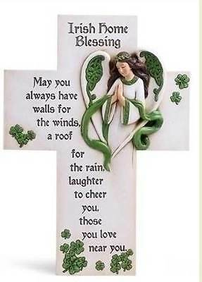 "14"" IRISH HOME BLESSING CELTIC CROSS ""... may you have those you love near you"""