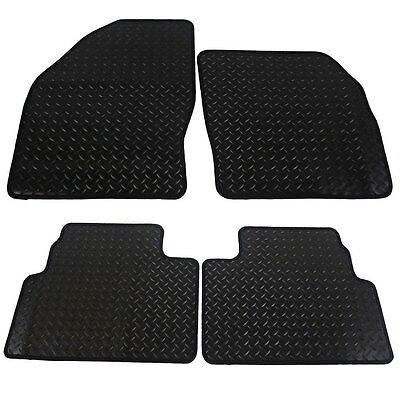 For Ford Kuga MK1 2008 - 2012 Fully Tailored 4 Piece Black Rubber Car Mat Set