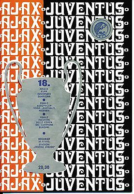 EUROPEAN CUP FINAL 1973 Ajax v Juventus FULL REPRINT