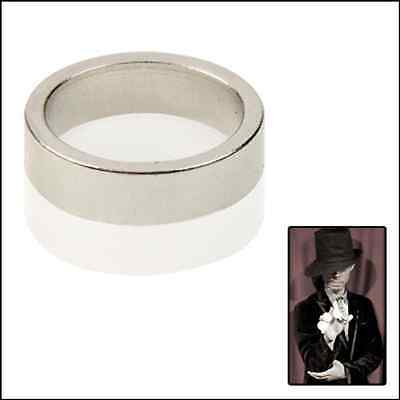 Magicians Magnetic PK Ring - Silver Colour For Magic Tricks - Choice of Sizes