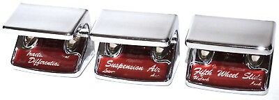 switch guards(3) air suspension 5th wheel tracton control dark red Freightliner