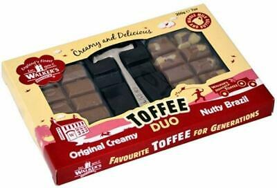 New Walkers Nonsuch Toffee Duo Original & Nutty Flavours with Hammer 200g Box