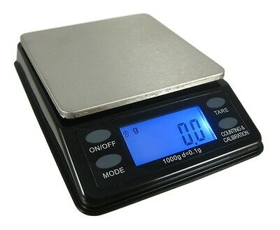 US Balance Mini Bench Digital Pocket Scale 1000g x 0.1g Gram Black Troy Ozt Dwt
