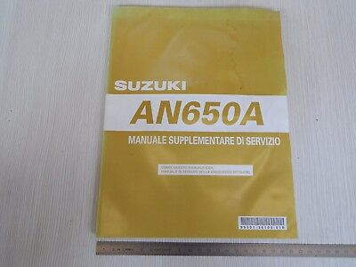 Supplemento Manuale Officina Suzuki An 650 A Burgman K4 Manual Repair