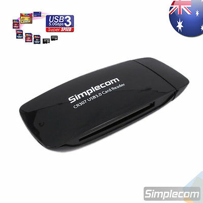 Simplecom 4 SLOT USB 3.0 All in One Card Reader Memory Stick CF Micro SD HC SDXC