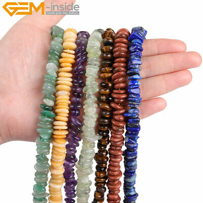 """2-4x8-12mm freeform rondelle disc jewelry making spacer beads 15""""  46 materials"""