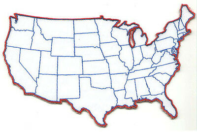 Embroidered U.S. Map Patch - Large