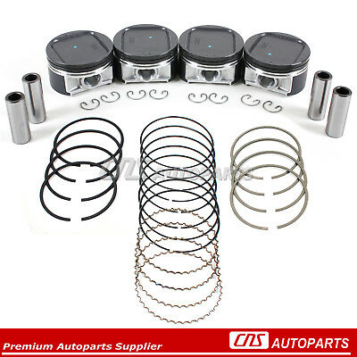 For Subaru Impreza WRX Saab 2.0L DOHC Turbo Pistons + Rings Set Standard EJ205
