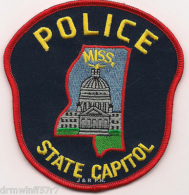 "Mississippi - State Capitol Police  (4"" x 4.25"")   shoulder police patch (fire)"