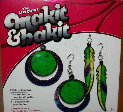 Makit & Bakit Jewelry Kit - Medallion and Feather Earrings~HTF~Set Of 2 Pairs