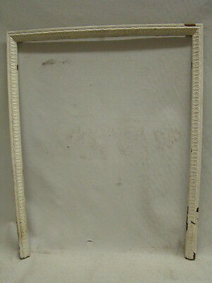 Antique Late 1800's Summer Tin Ornate Fireplace Cover Frame