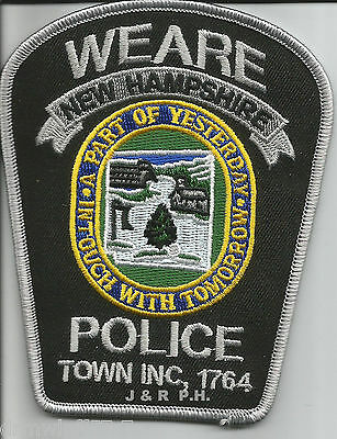 "Weare, NH  ""In Touch with Tomorrow""  (3.5"" x 4.5"")  shoulder police patch (fire)"