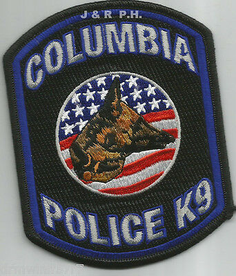 "Columbia  K-9 Unit, AL (old style)  (3.5"" x 4.5"")  shoulder police patch (fire)"