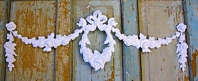 Shabby & Chic Rose Wreath Swag * Furniture Appliques *