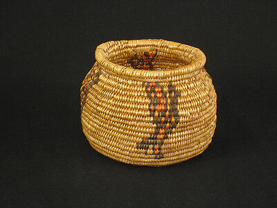 A Paiute Olla, Native American Indian basket, circa: 1920