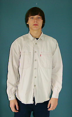 Vintage 80's Men's Levi's Button Up  Shirt - Size L