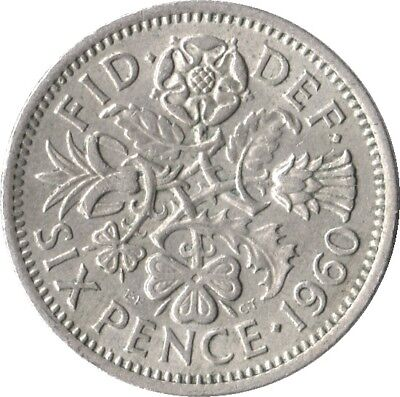 Lucky Sixpence Charm BUY 2 GET 1 FREE  Choice of date between 1947-1967